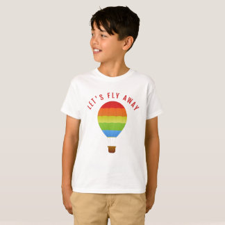 Let's Fly Away, Hot Air Balloon Funny Quote TShirt