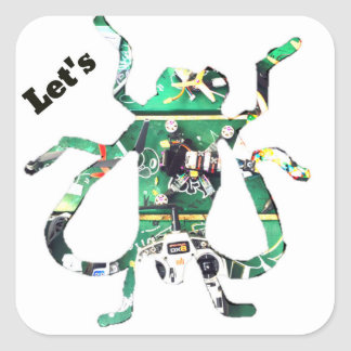 Let's Fly Square Sticker