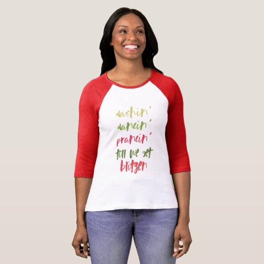 Let's Get Blitzen Red Christmas Shirt
