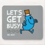Let's Get Busy (white text) Mouse Pad