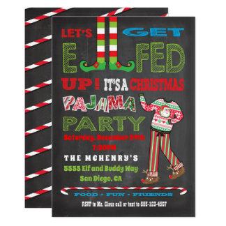 Let's get Elfed up Chrismas Pajama Party Card