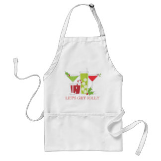 Let's get Jolly Christmas Cocktails Standard Apron