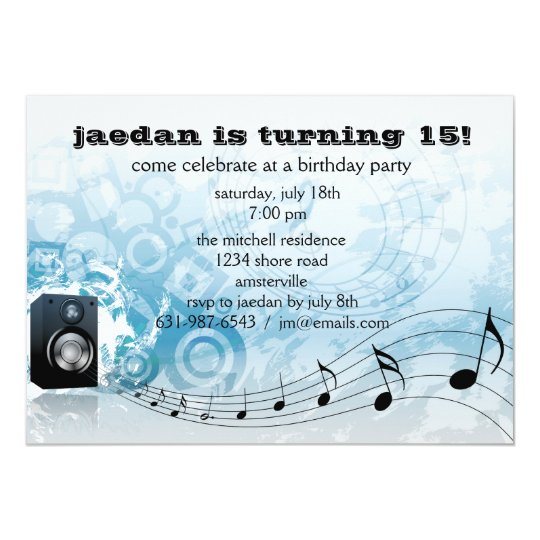 Let's Get Loud - Birthday Party Invitation