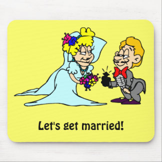 Let's get married mouse mat