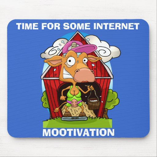 Let's Get Mootivated Mouse Pad