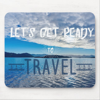 Let's get read to travel Typography Mousepad