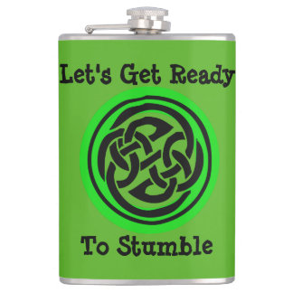 Let's Get Ready to Stumble Irish Flask by Julie