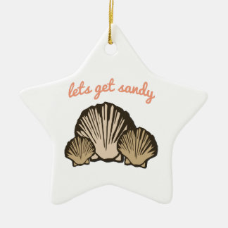 Lets Get Sandy Christmas Ornaments