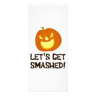 Let's Get Smashed Halloween Party Customized Rack Card