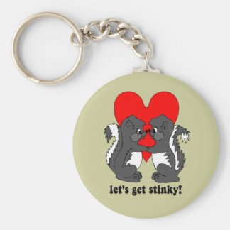 lets get stinky basic round button key ring