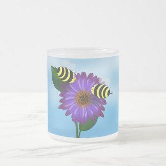 Let's Get Together (bees) Frosted Glass Mug