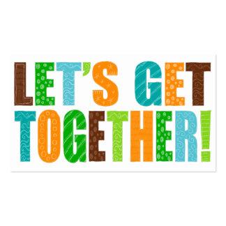 Let's Get Together! Business Cards