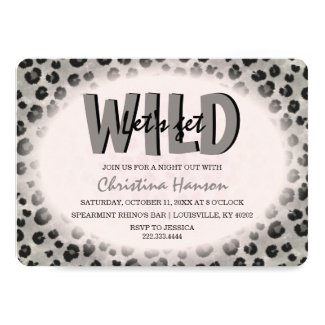 Let's Get Wild Leopard Print Bachelorette Party Invitation
