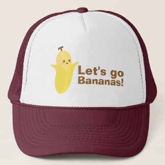 Let's go Bananas with this cute and happy banana Trucker Hat