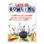 Let's Go Bowling Birthday Party 13 Cm X 18 Cm Invitation Card