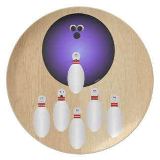 Let's Go Bowling Plate
