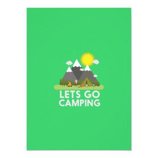 Lets go Camping 14 Cm X 19 Cm Invitation Card