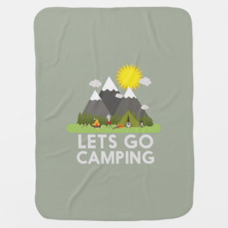 Lets go Camping Baby Blanket