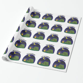 Lets Go Camping Wrapping Paper