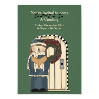 Let's Go Caroling - Holiday Invitation