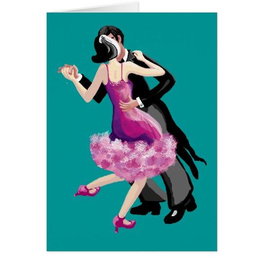 Let's go dancing card