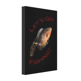 Let's Go Fishing Canvas Prints