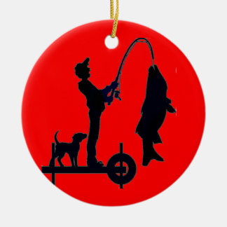 LET'S GO FISHING CHRISTMAS ORNAMENT