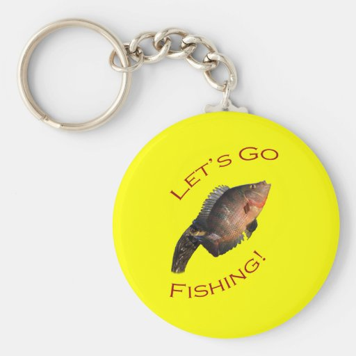 Let's Go Fishing Keychain