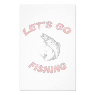 Lets go fishing personalized stationery