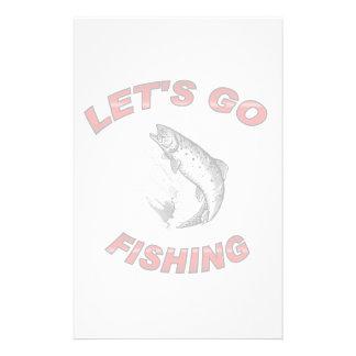 Lets go fishing stationery