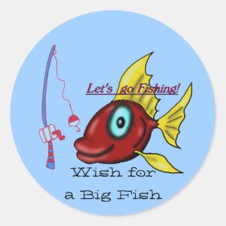 Let's go Fishing Sticker