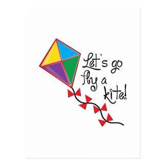 Lets Go Fly a Kite Postcard