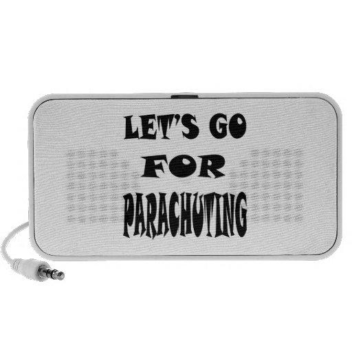 Let's Go For PARACHUTING Mini Speakers
