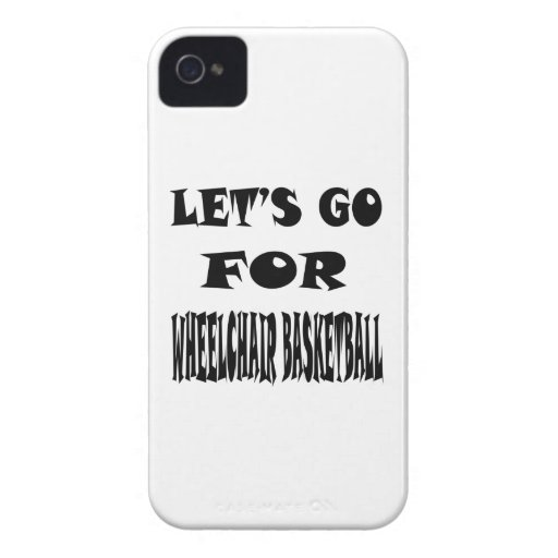Let's Go For WHEELCHAIR BASKETBALL. iPhone 4 Case-Mate Case