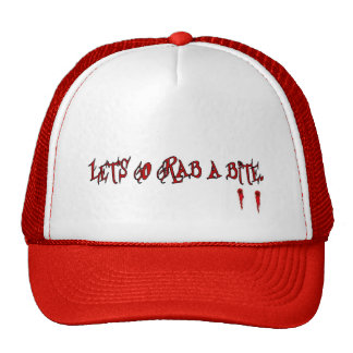 Let's go grab a bite trucker hat