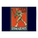 Let's Go Marines Greeting Card