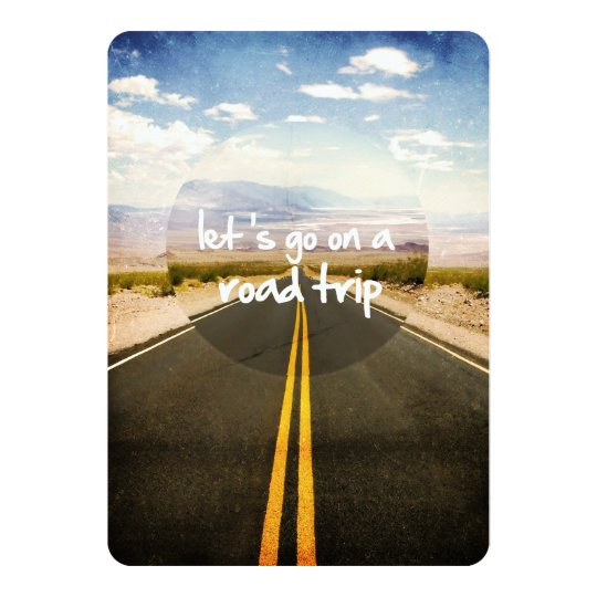 Let's go on a road trip card