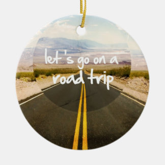 Let's go on a road trip christmas ornament