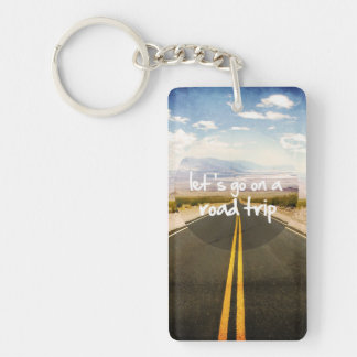 Let's go on a road trip Single-Sided rectangular acrylic key ring