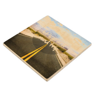 Let's go on a road trip wood coaster