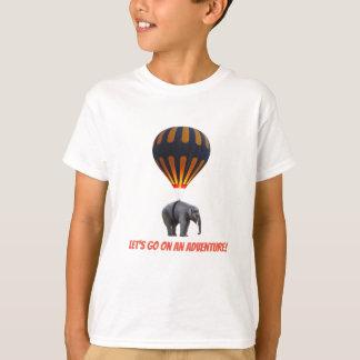 LET'S GO ON AN ADVENTURE! ELEPHANT HOT AIR BALLOON T-Shirt