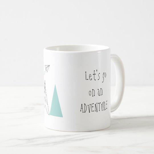'Let's go on an Adventure' Mug Design