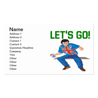 Lets Go Pack Of Standard Business Cards