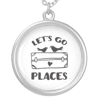 Let's Go Places Traveler Inspiration Silver Plated Necklace