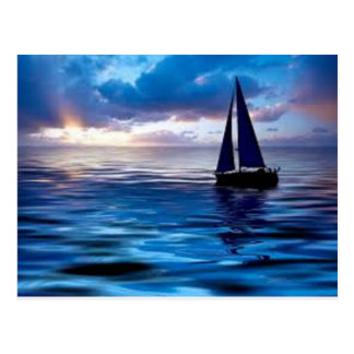 Lets Go Sailing Postcard