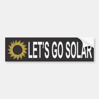 Let's Go Solar Energy Bumper Sticker