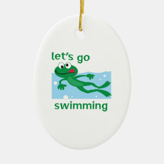LETS GO SWIMMING CHRISTMAS ORNAMENTS