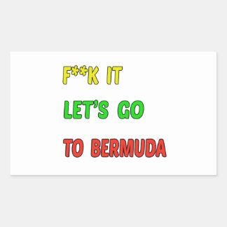 Let's Go To Bermuda. Rectangular Sticker