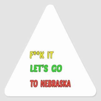 Let's Go To NEBRASKA. Triangle Sticker