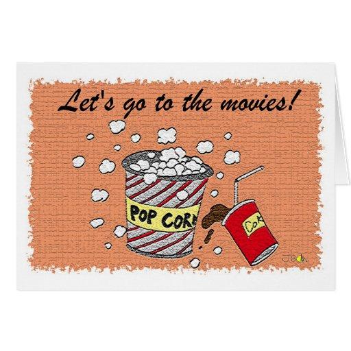 Let S Go To The Movies: Let's Go To The Movies! Greeting Card